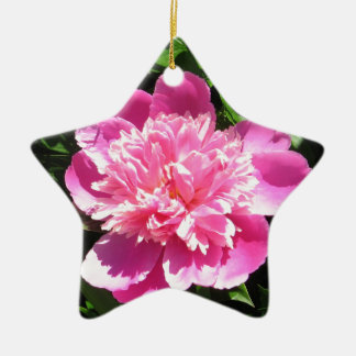 Peony rosado ornamento para arbol de navidad
