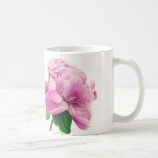 Peony rosado en la taza