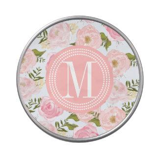 Peony rosado floral de los rosas del vintage femen latas de caramelos