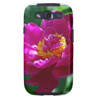 Peony rosado floreciente galaxy SIII funda