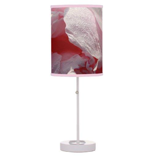 peony rosado lámpara de mesilla de noche