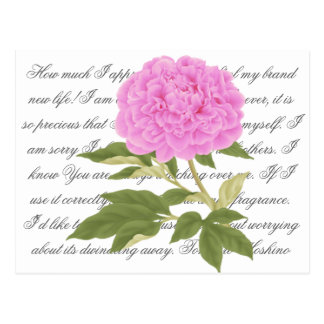 Peony rosado postal