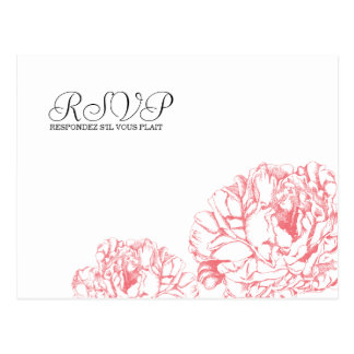 Peony RSVP Postcard
