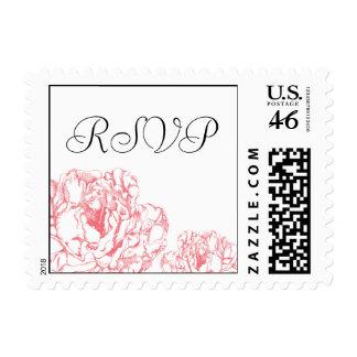 Peony RSVP Stamp