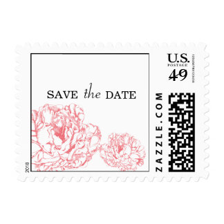 Peony Save the Date Stamp