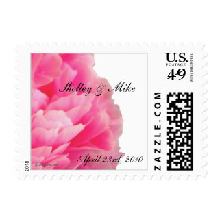Peony Small Postal Square Wedding Postage