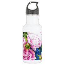 Peony Stainless Steel Water Bottle