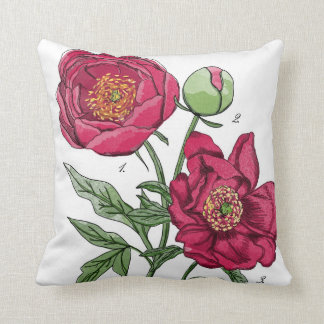 Peony Study Vol.1 Throw Pillow