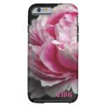 Peony suave 6/6s elegante floral funda para iPhone 6 tough