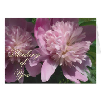 Peony Thinking of You Note Card
