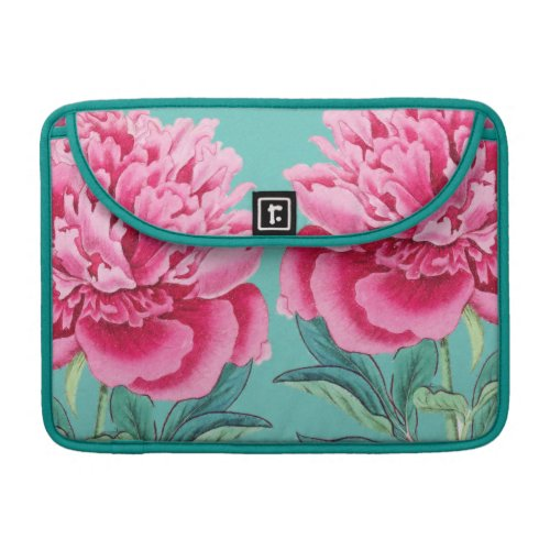 Peony Turquoise Pop Sleeve For MacBook Pro
