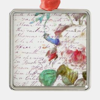 Peony Vintage Letter Metal Ornament