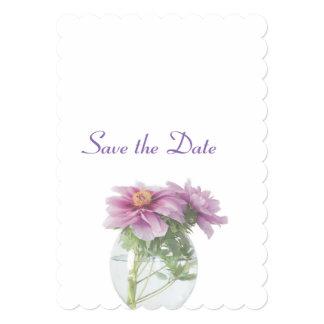Peony Wedding Day Theme Save the Date Card