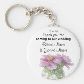 Peony Wedding Souvenirs Keepsakes Giveaways Keychain