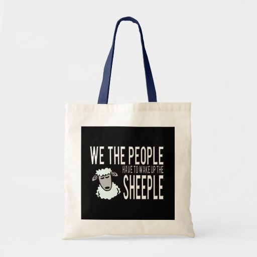 People and Sheeple - Political Humour Bags