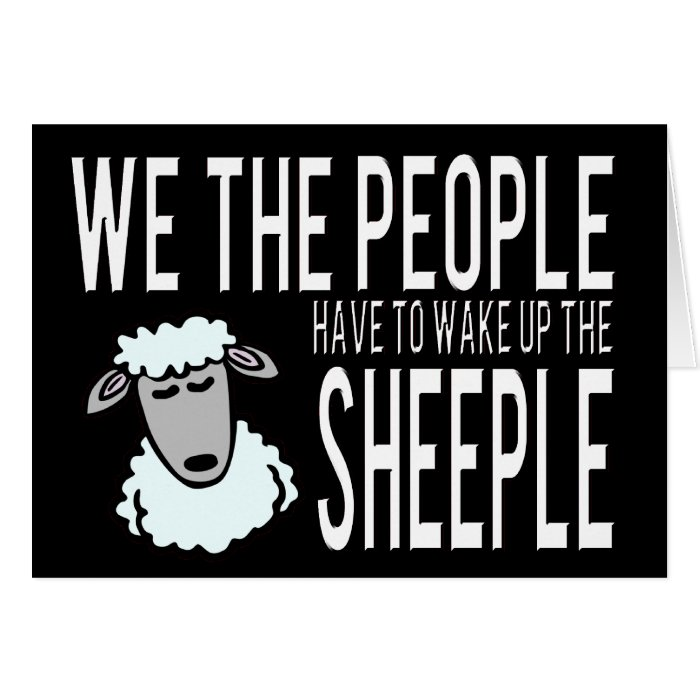 People and Sheeple - Political Humour Card
