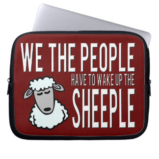 People and Sheeple - Political Humour Computer Sleeve