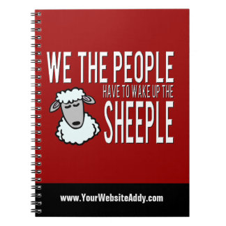 People and Sheeple - Political Humour Spiral Notebooks