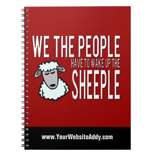 People and Sheeple - Political Humour Notebook