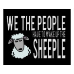 People and Sheeple - Political Humour Print
