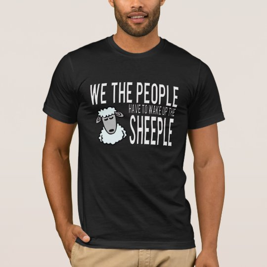 People and Sheeple - Political Humour T-Shirt