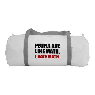 People Are Like Hate Math Duffle Bag