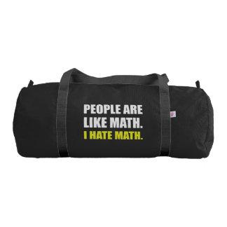 People Are Like Hate Math Gym Bag