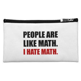 People Are Like Hate Math Makeup Bag