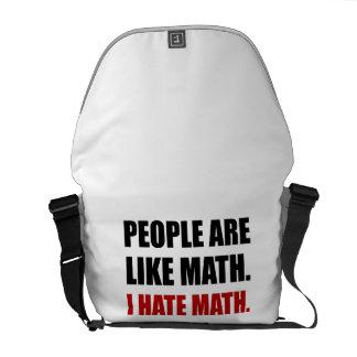 People Are Like Hate Math Messenger Bag