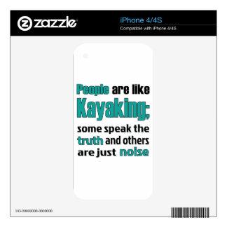 People are like Kayaking. iPhone 4 Skins