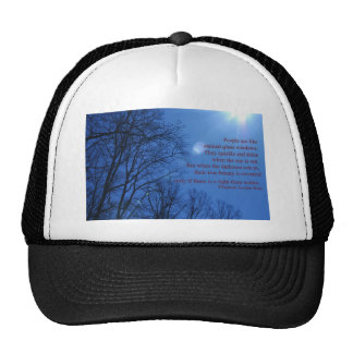 people are like stained glass trucker hat