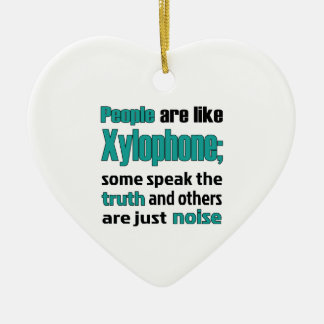 People are like Xylophone Double-Sided Heart Ceramic Christmas Ornament