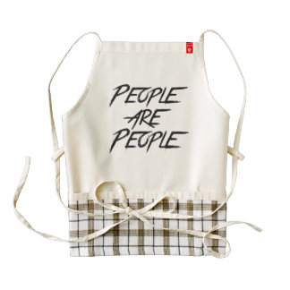 PEOPLE ARE PEOPLE ZAZZLE HEART APRON