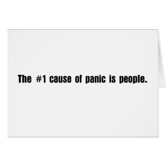 People are the cause of most problems card