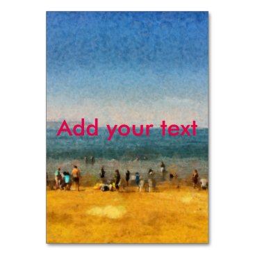 People at the beach card
