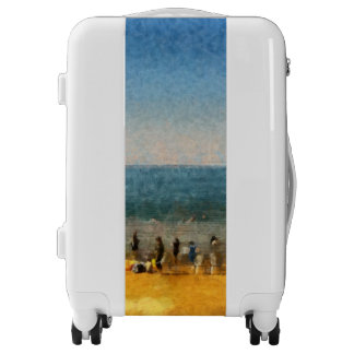 People at the beach luggage