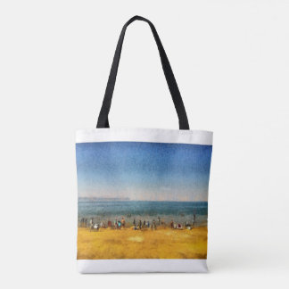 People at the beach tote bag