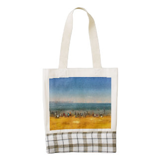 People at the beach zazzle HEART tote bag