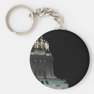 People battle monument Leipzig Napoleon Saxonia Basic Round Button Keychain