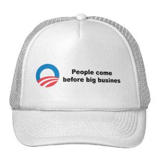People before big corporations trucker hat