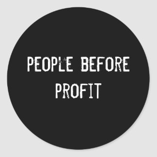 people before profit round stickers