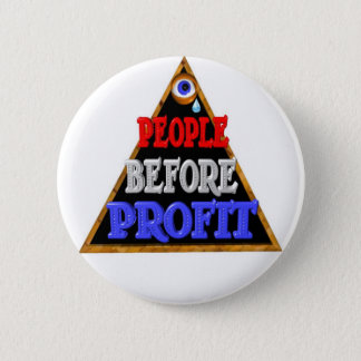 People before profits Occupy wall street protest Button
