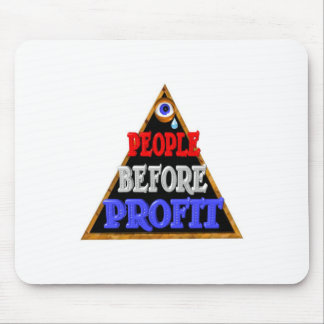 People before profits Occupy wall street protest Mouse Pad