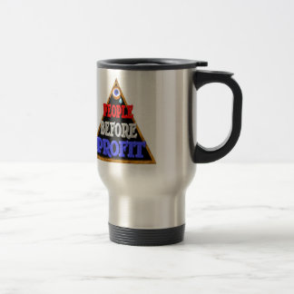 People before profits Occupy wall street protest Travel Mug