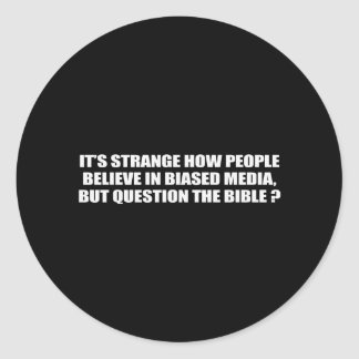People believe in biased media but question the bi stickers