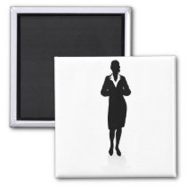People Business Silhouettes Magnet
