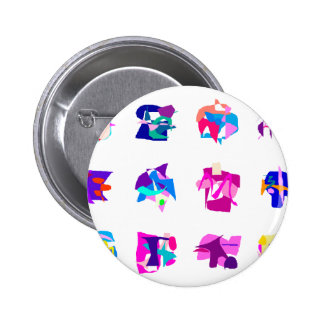 People 2 Inch Round Button