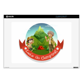 People camping out in the park laptop decal
