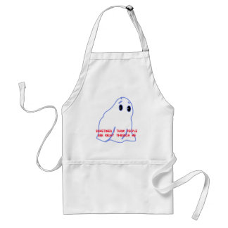 People Can See Right Through Me Funny Ghost Art Adult Apron
