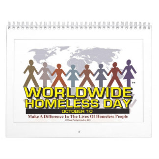 People Chain Homeless Calendar